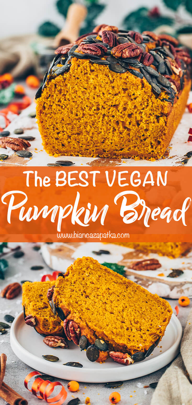 Pumpkin Bread (Easy, Vegan, Moist, Best)