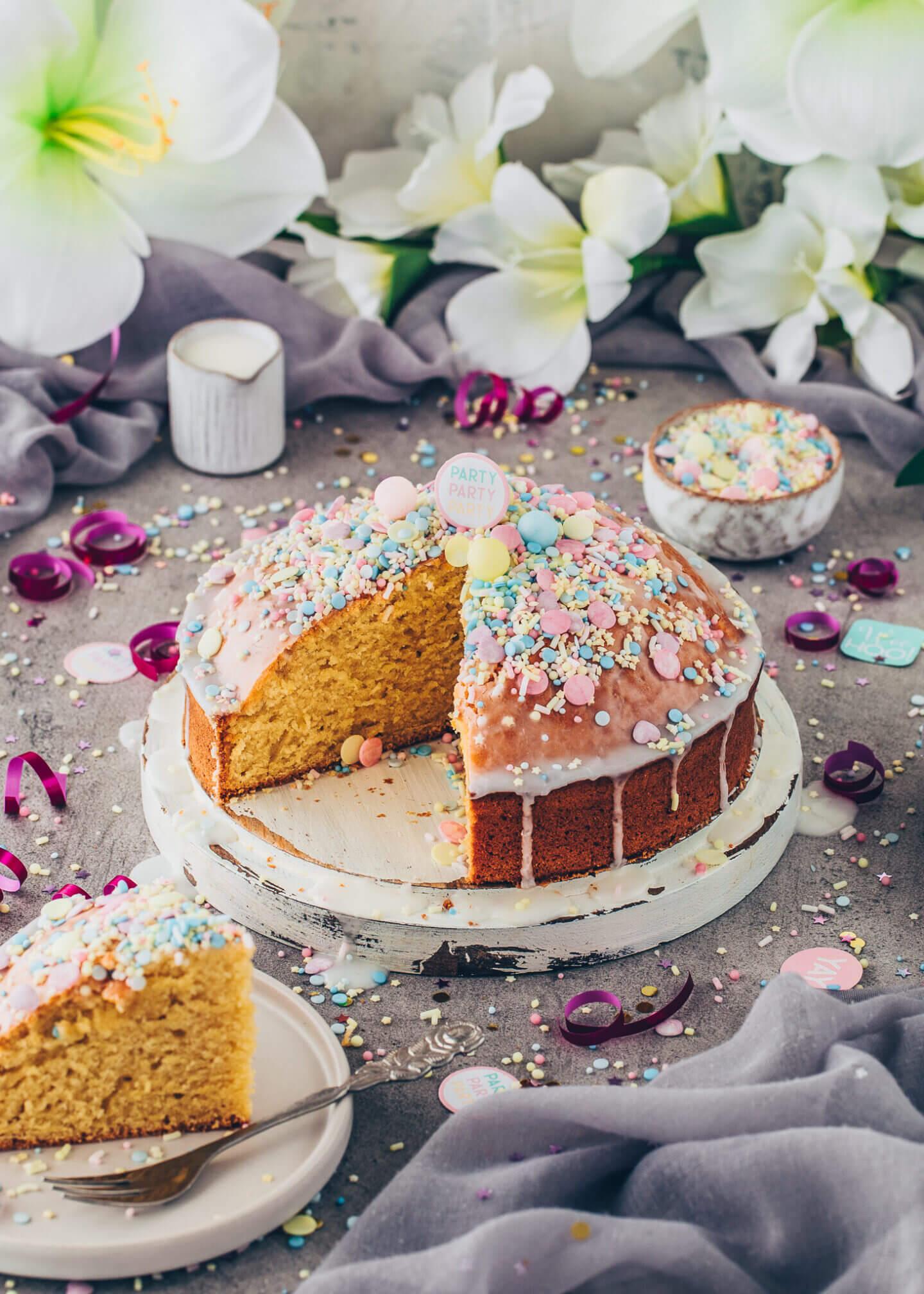 Vegan Funfetti Cake, Birthday Party Cake