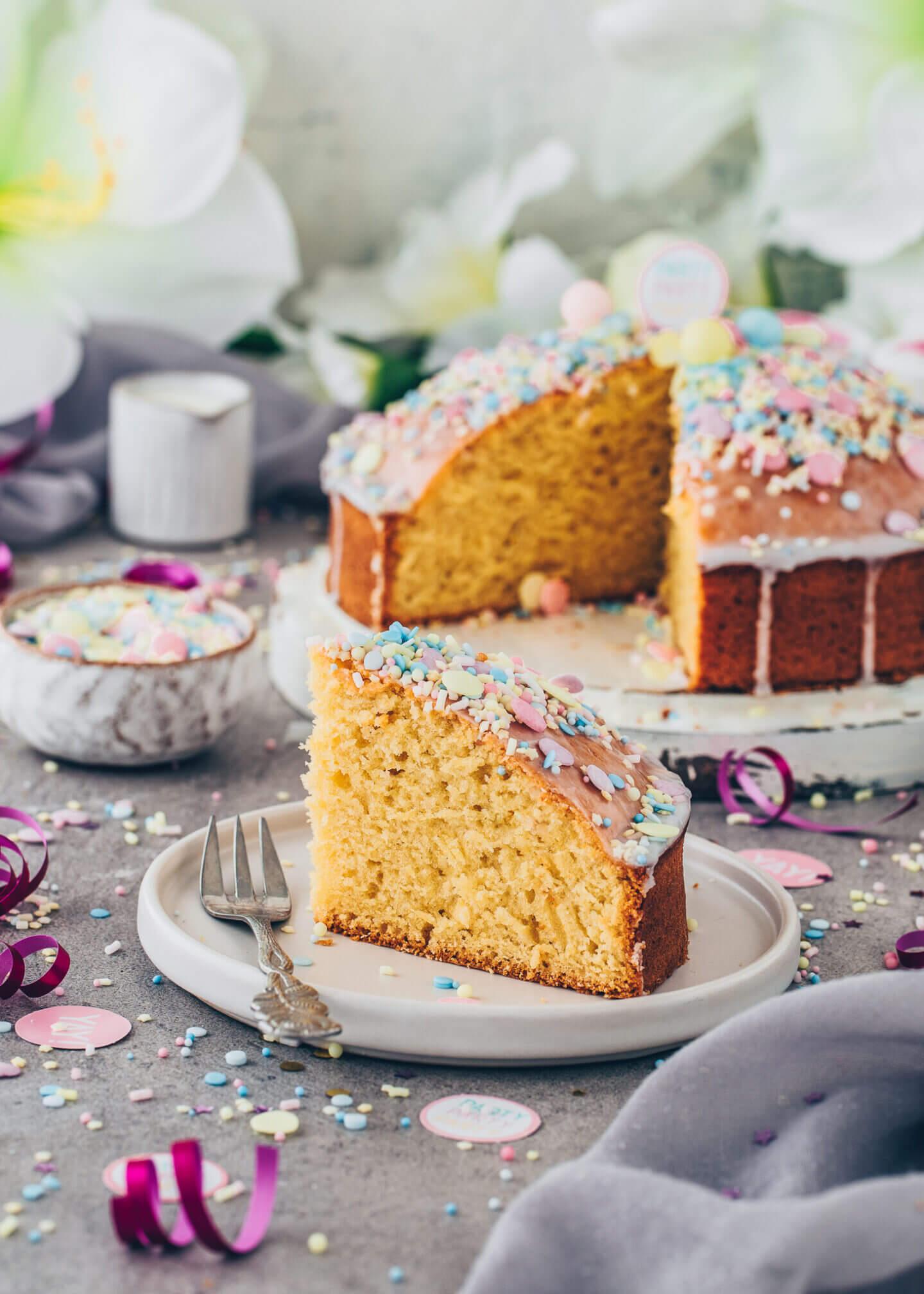 Vegan Funfetti Lemon Cake