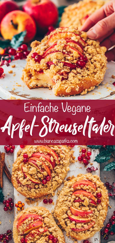 Apfel Streuseltaler, Bratapfel-Datschi