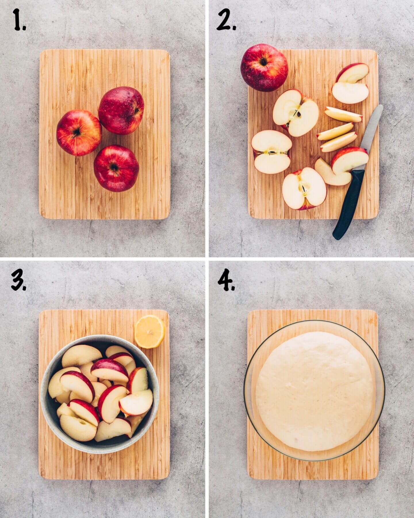 How to slice apples for apple crumble pizza