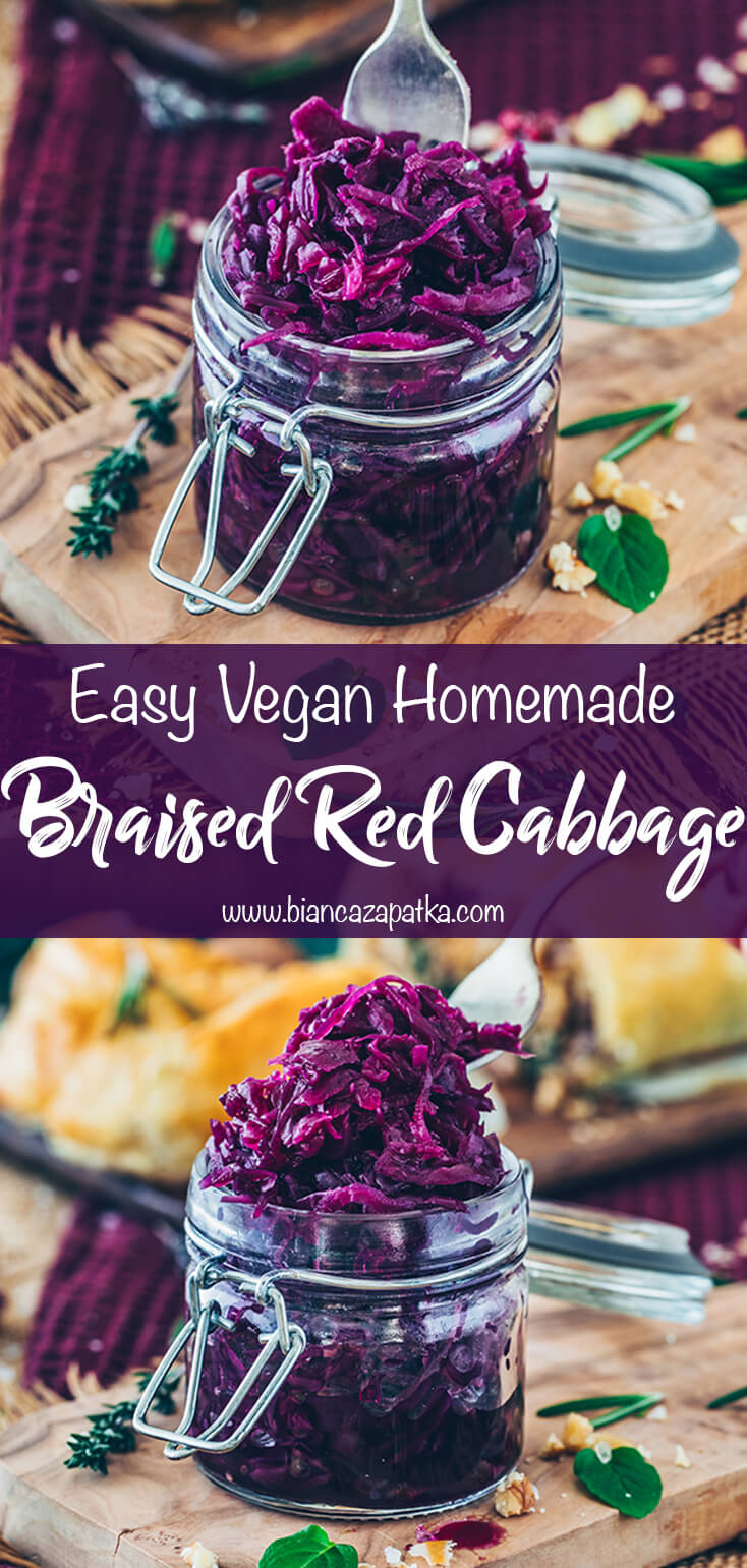 Braised Red Cabbage with Apples (Easy, Vegan Recipe)