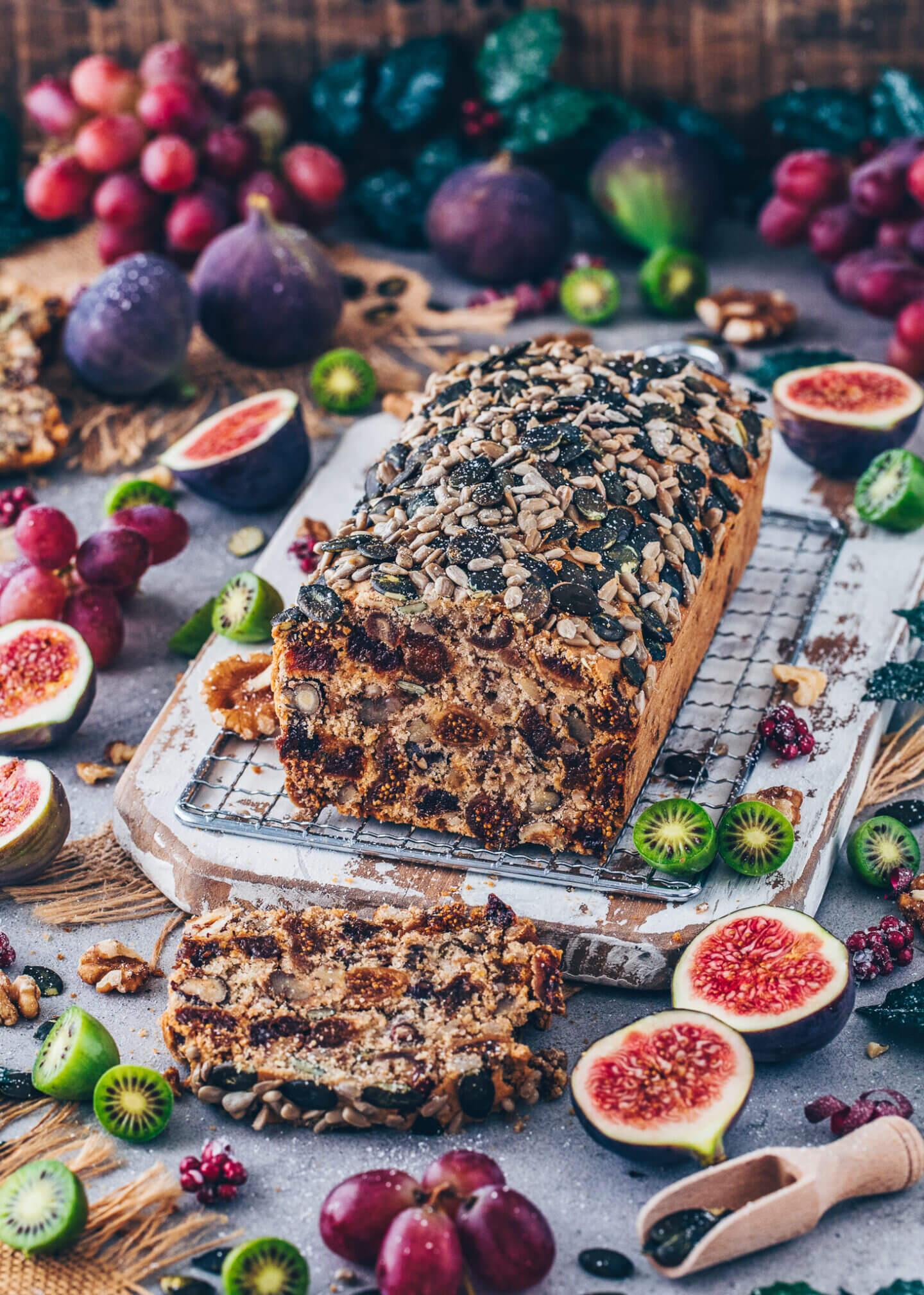Vegan Fruit & Nut Bread (Easy Tea Loaf)