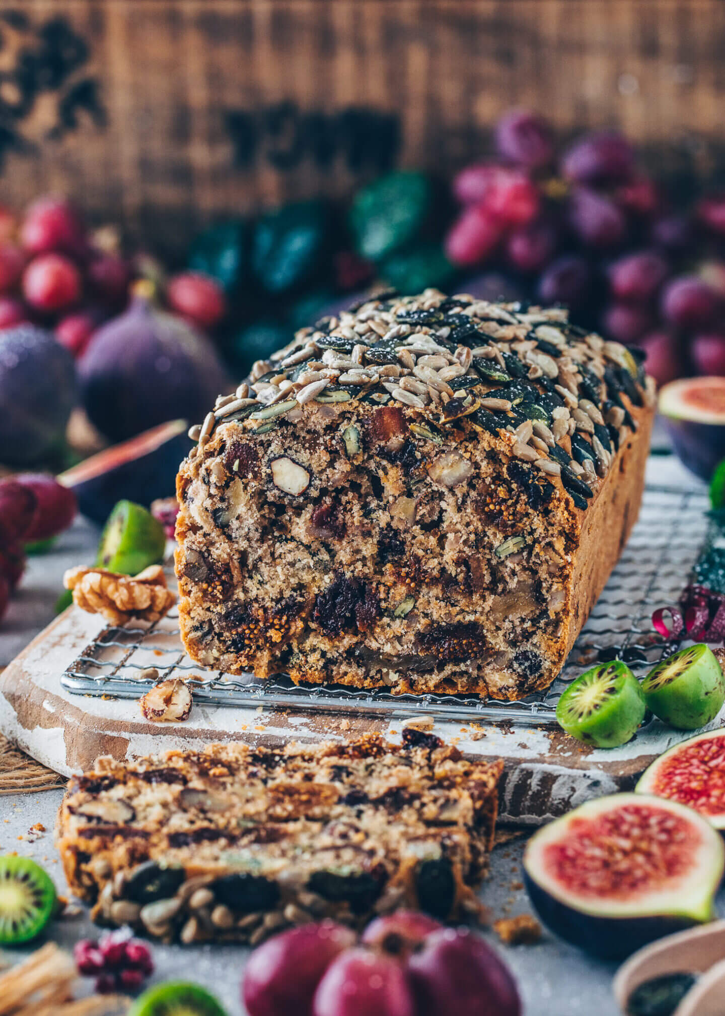 Vegan Tea Loaf with dried fruit and nuts