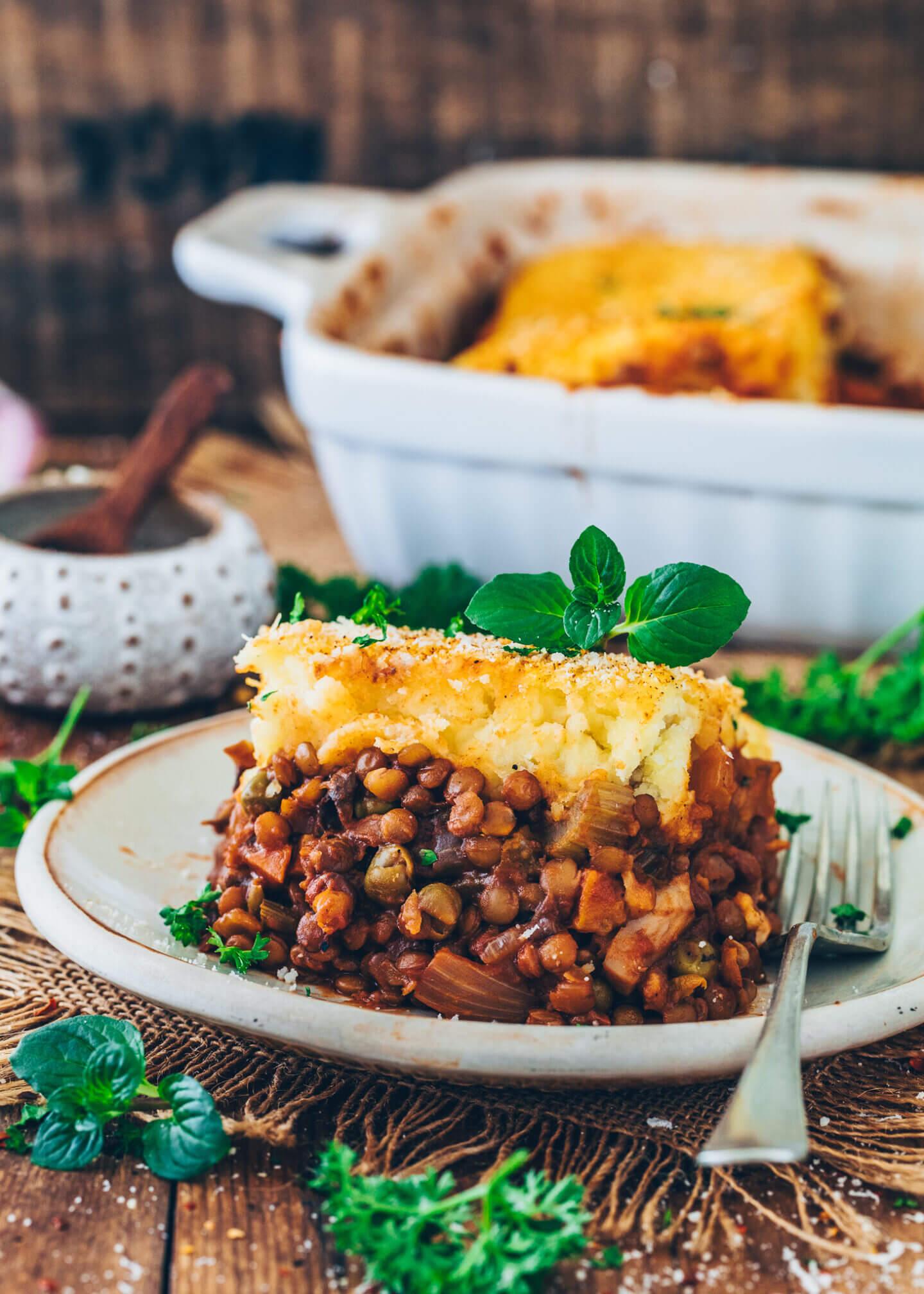 Veganer Shepherd's Pie mit Linsen