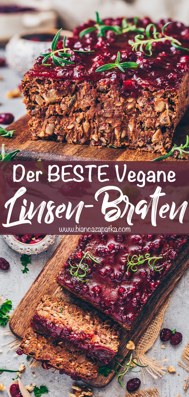 Linsenbraten (Veganer Hackbraten)