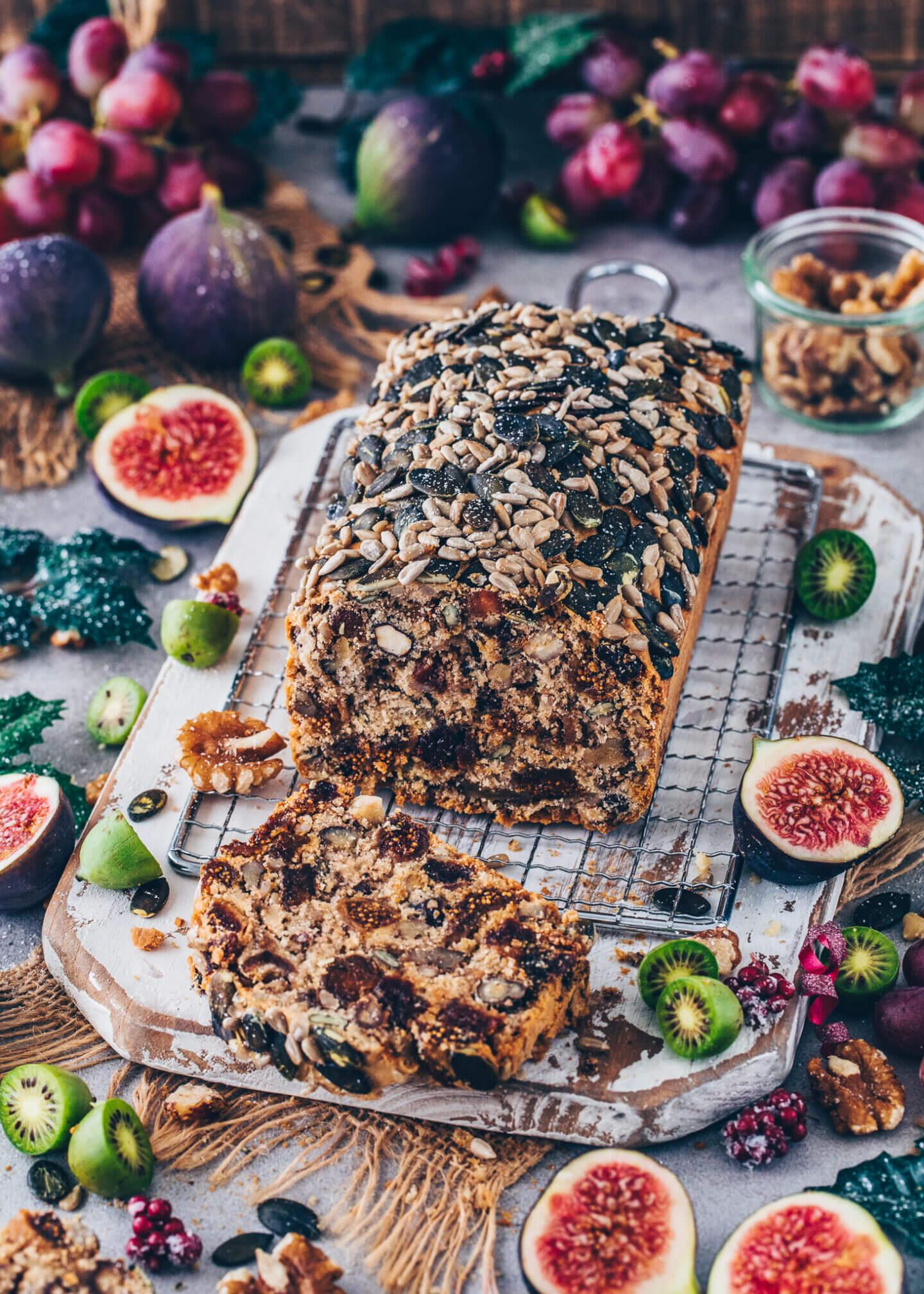 Vegan Fruit and Nut Bread