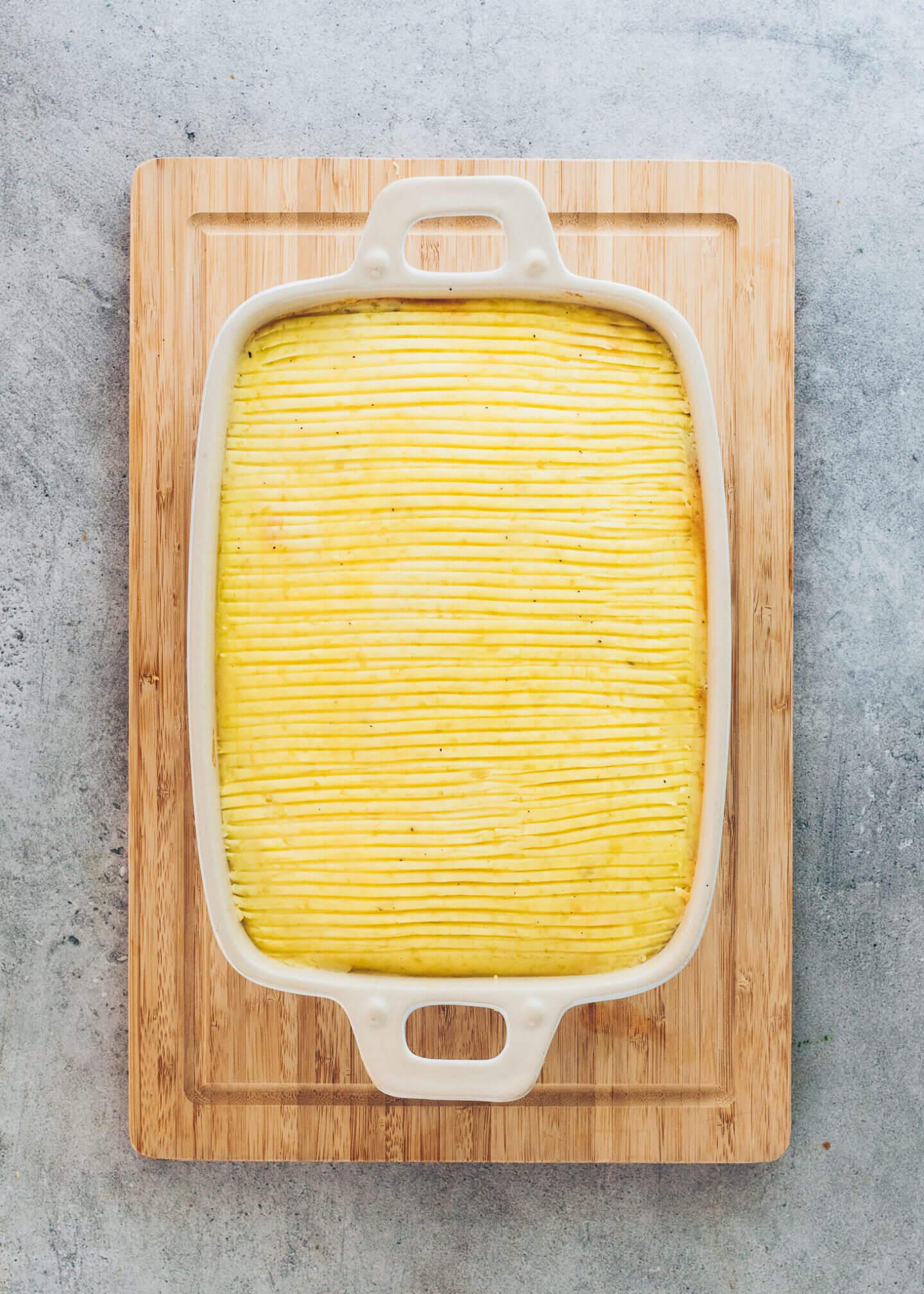 Auflauf mit Linsen und Kartoffelpüree (Shepherd's Pie)