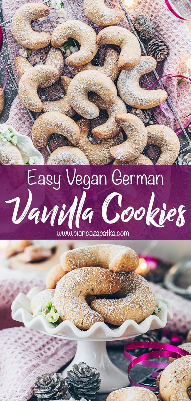 Vanilla Crescent Cookies (German Vanillekipferl Biscuits)