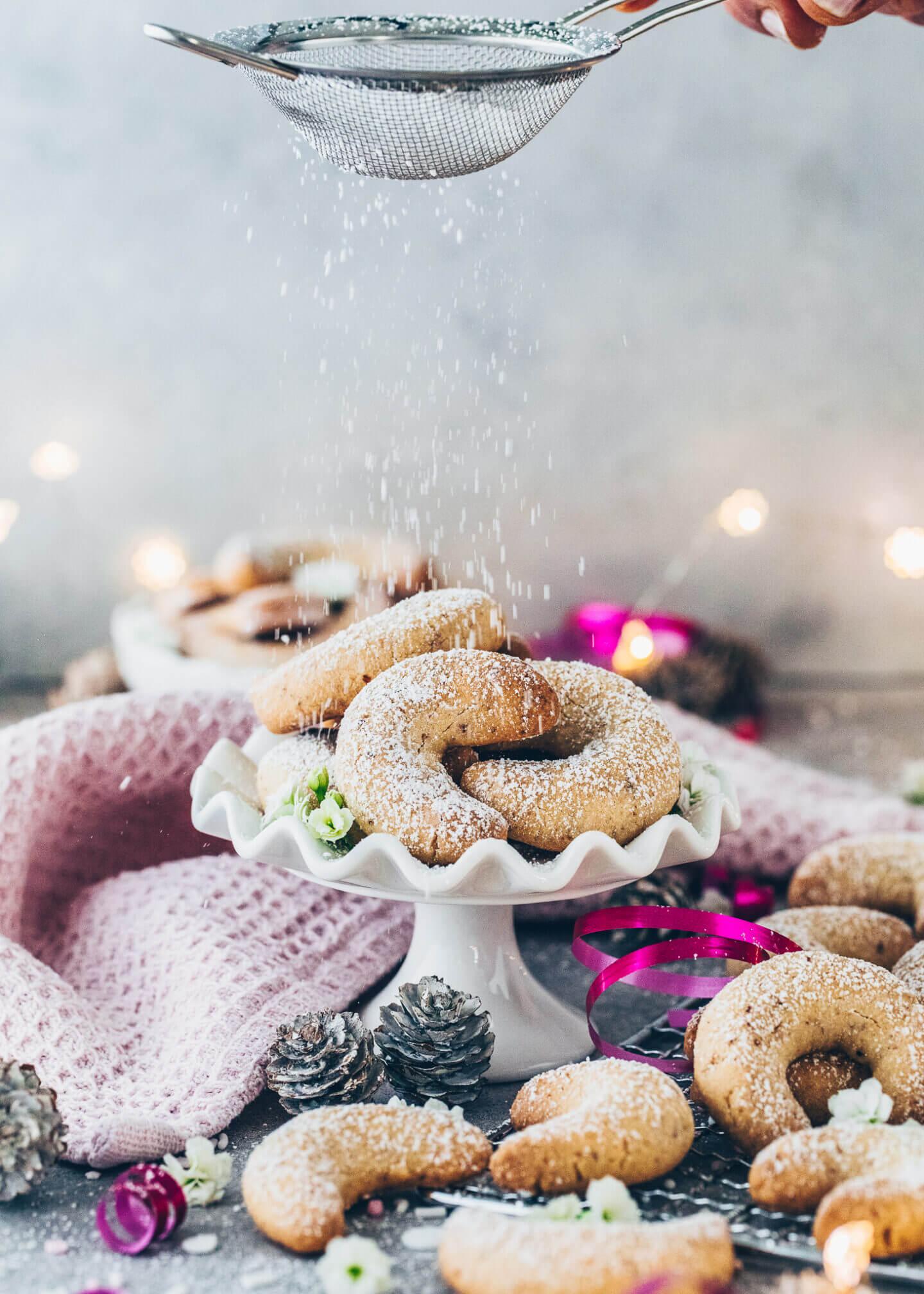 Vanillekipferl (Vegane Plätzchen)