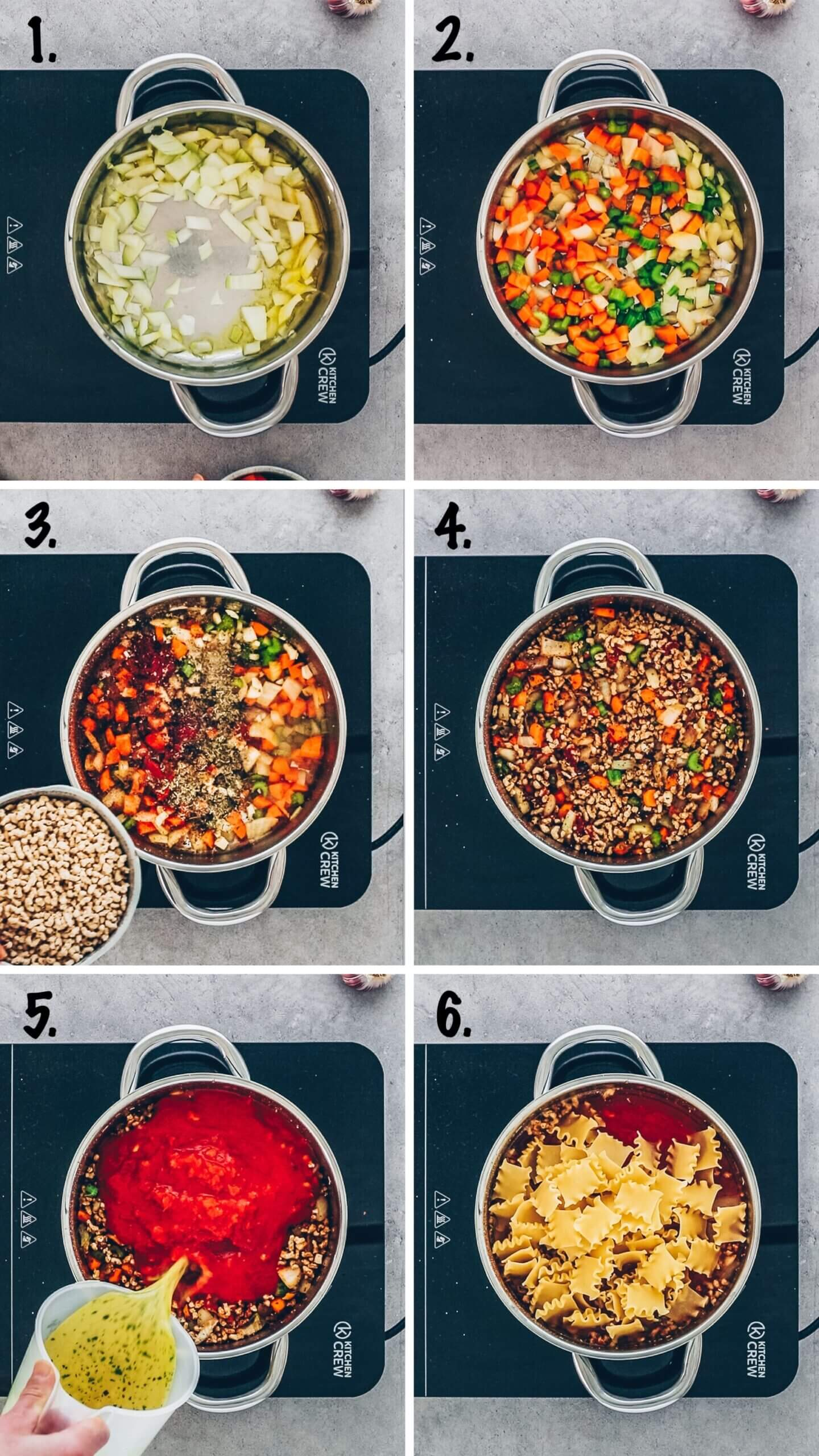 Vegan Lasagna Soup step-by-step instructions