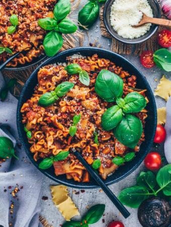 Vegan Lasagna Pasta Soup