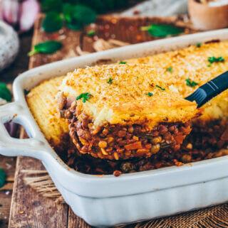 best vegan shepherd's pie with lentils