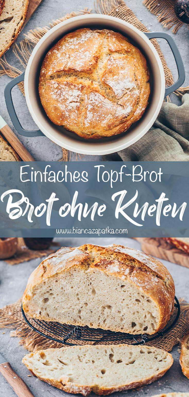 Brot ohne Kneten (Topf-Brot)