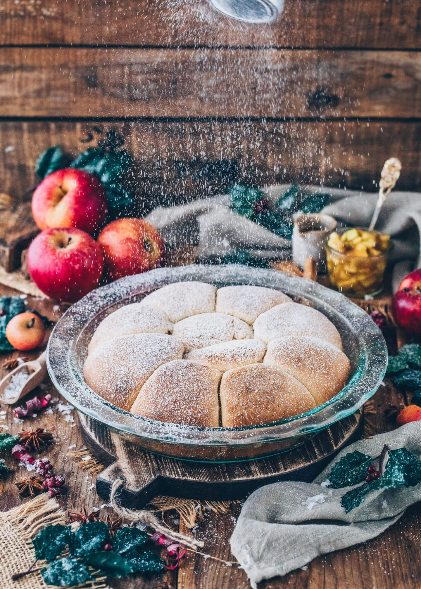 Brioche Buns with apples