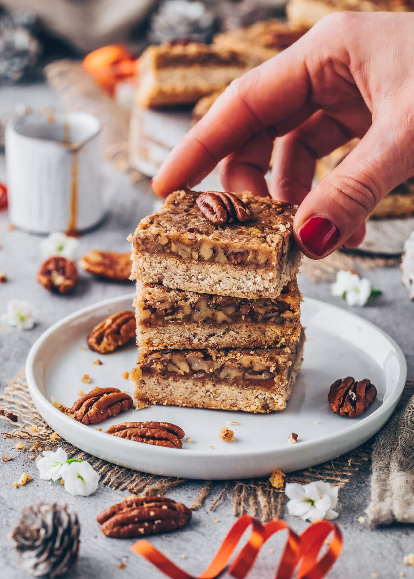 Crunchy Nuss-Riegel mit Krokant