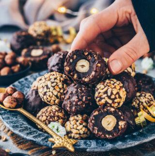 Gesunde Ferrero Rocher (vegan, einfach, selbstgemacht)