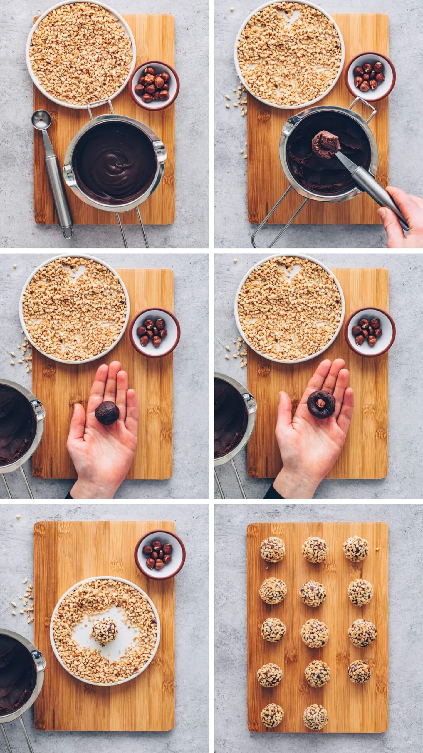 How to make Vegan Ferrero Rocher - step-by-step recipe
