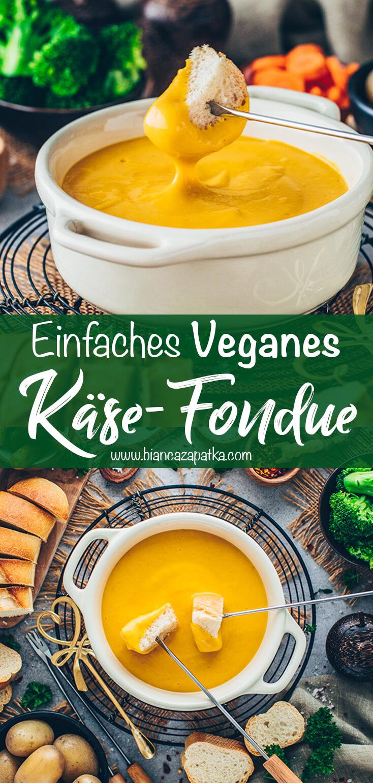 Veganes Käsefondue (Vegane Käsesauce)