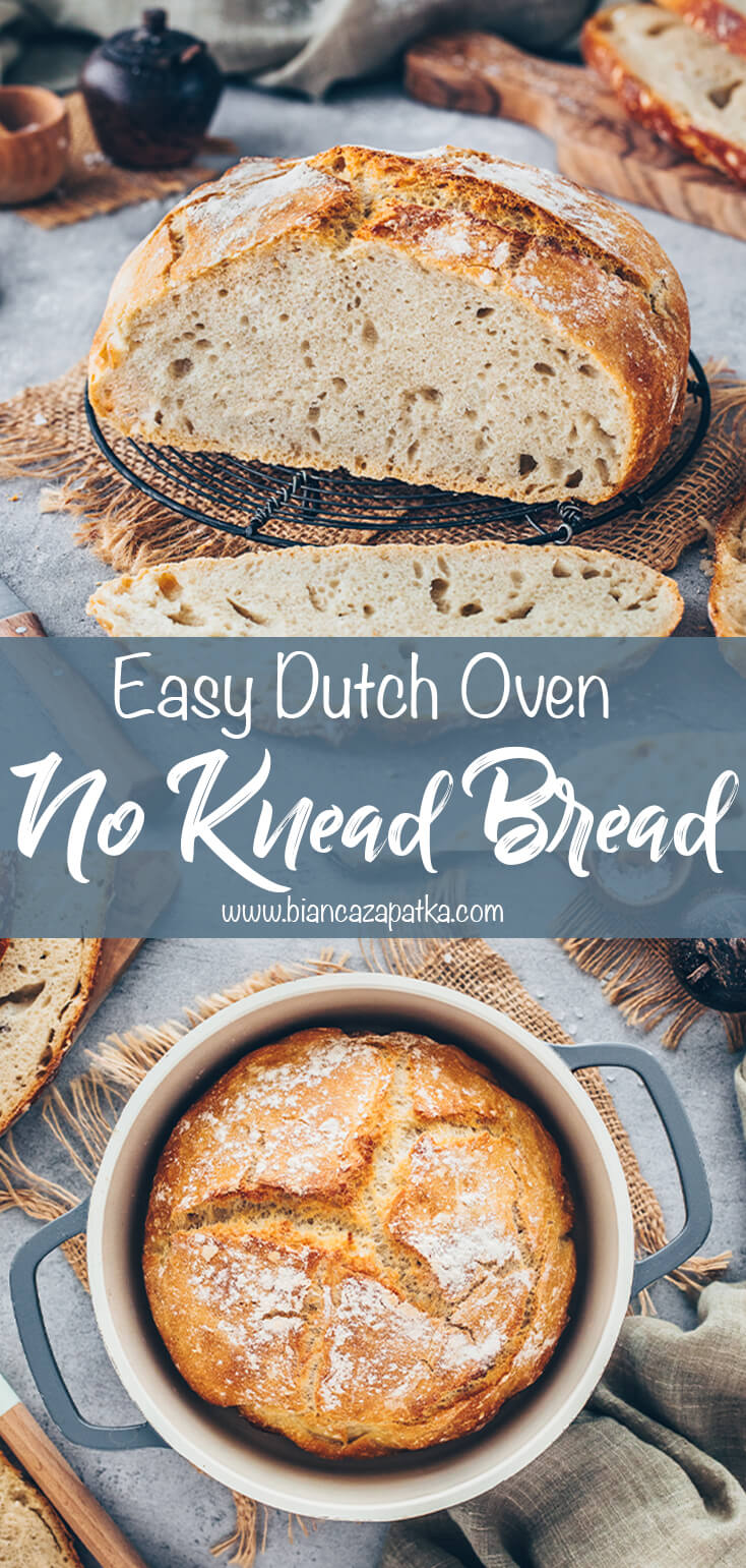 No-Knead Bread (Dutch Oven Artisan Bread)