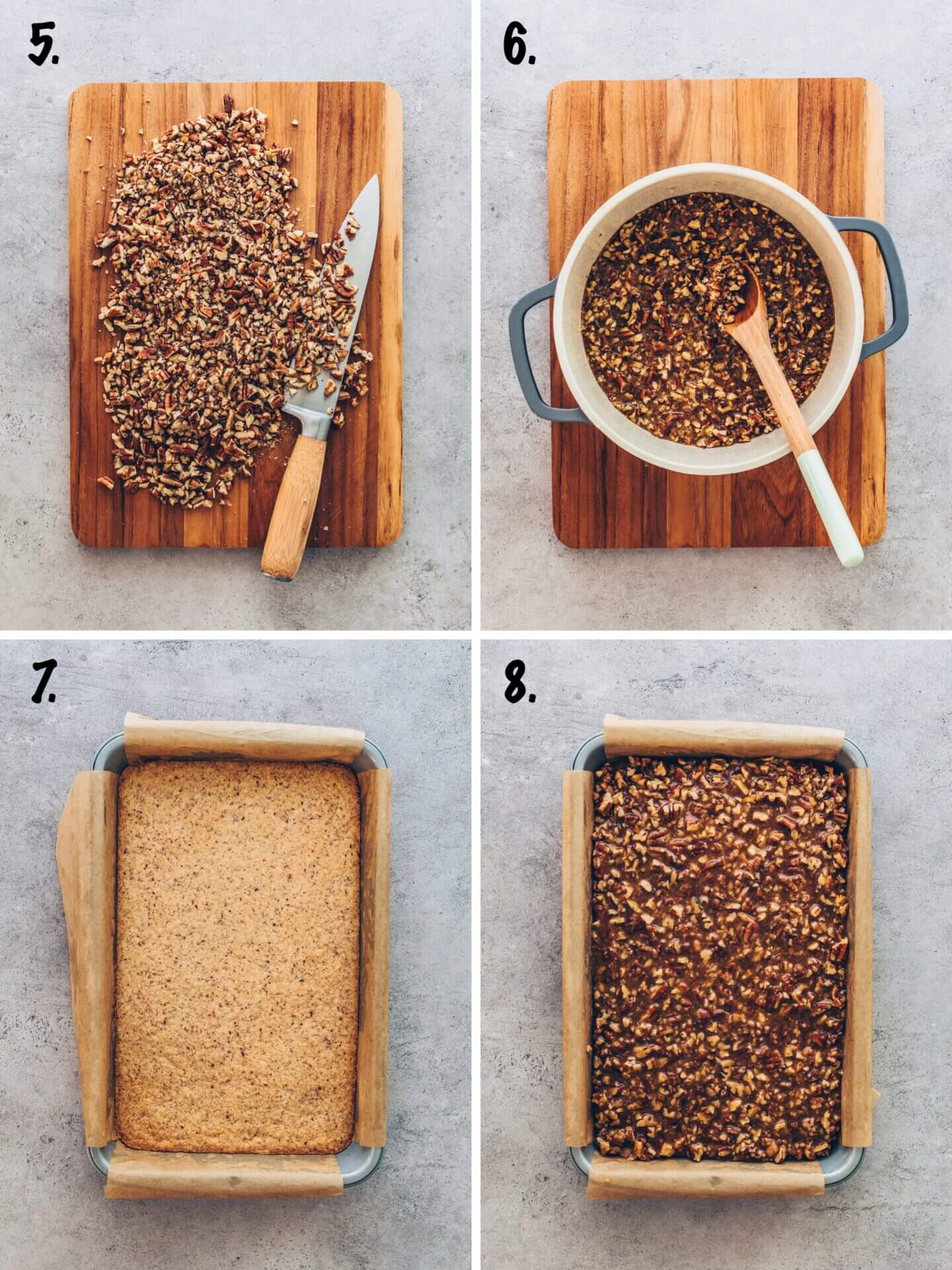 Homemade Pecan Pie Bars step-by-step instruction