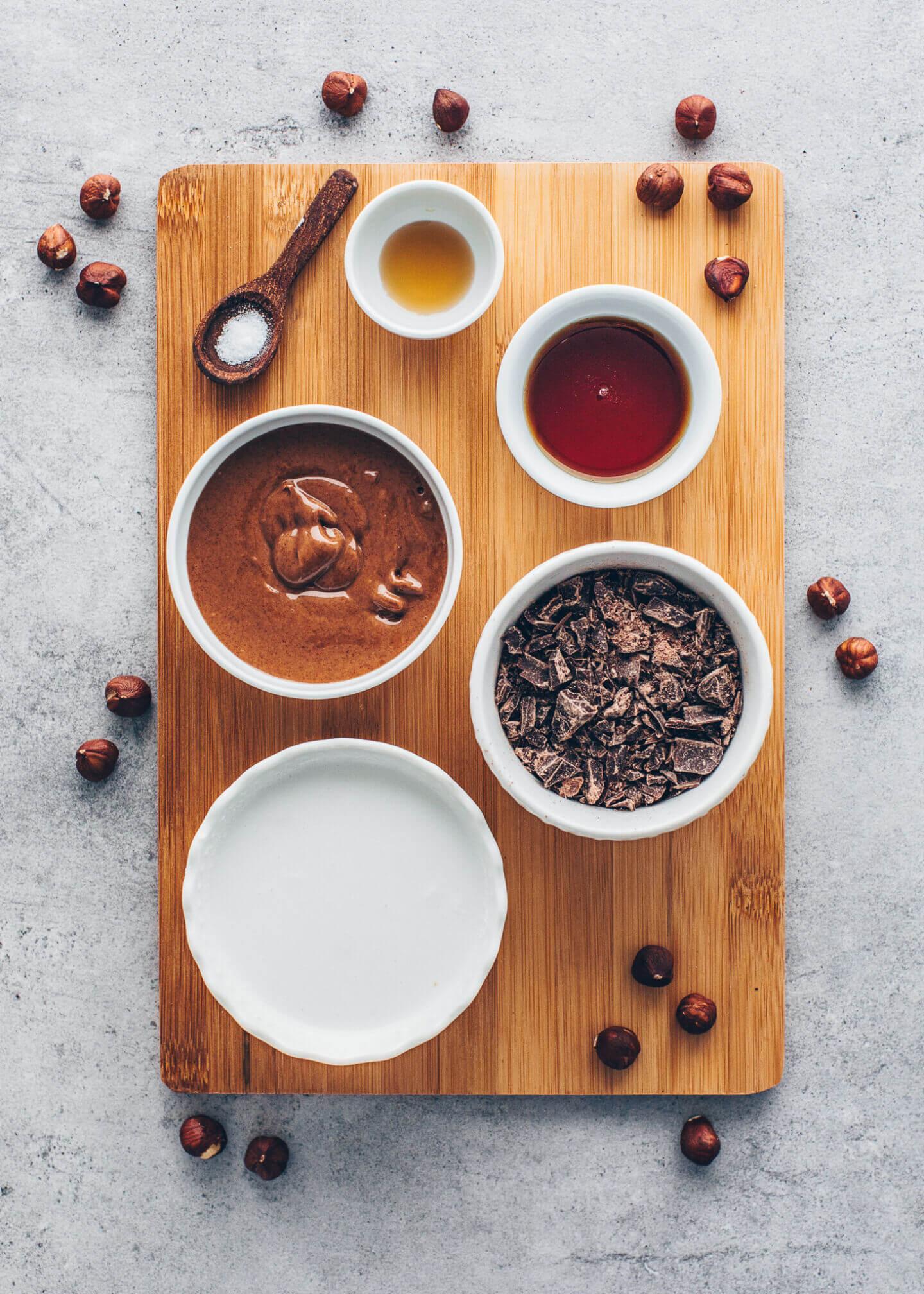 Ingredients for Vegan Ferrero Rocher - Chocolate Hazelnut Truffles