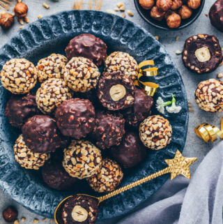 Vegan Ferrero Rocher - Chocolate Hazelnut Balls