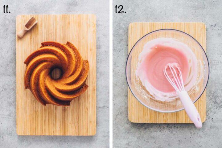 Veganer Blutorangen Kuchen mit rosa Glasur