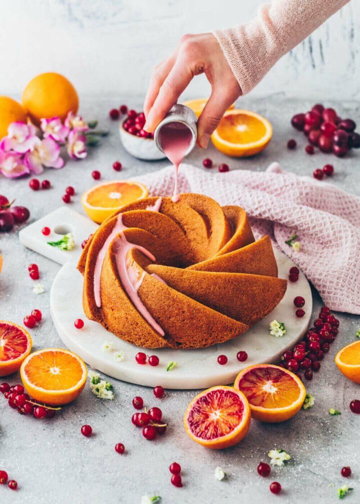 Blutorangen Gugelhupf Kuchen (Food Fotografie)