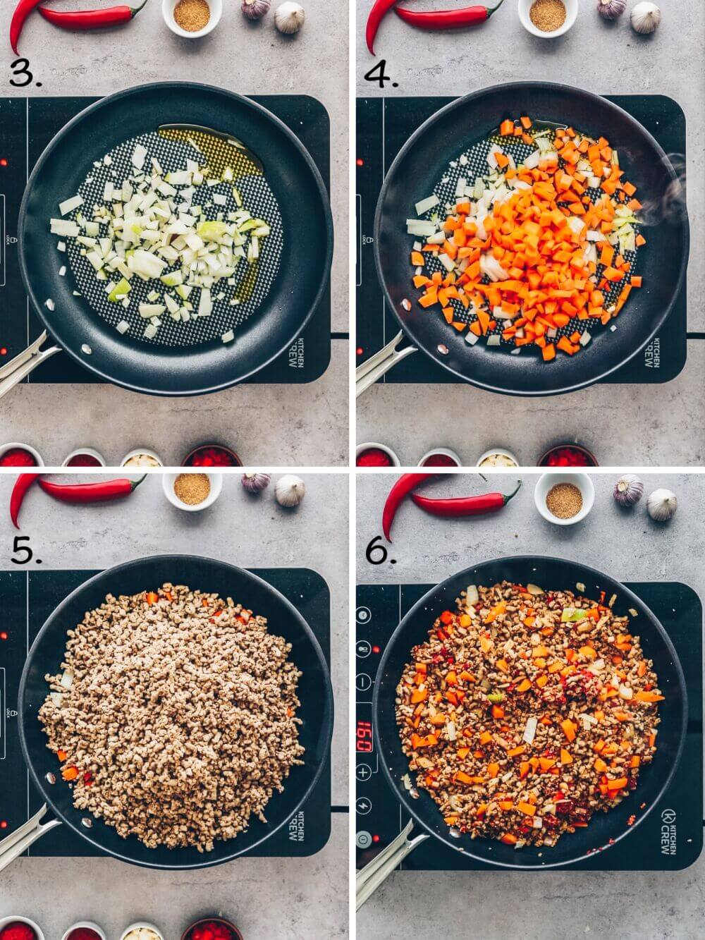 Chili sin carne Schritt-für-Schritt Rezept