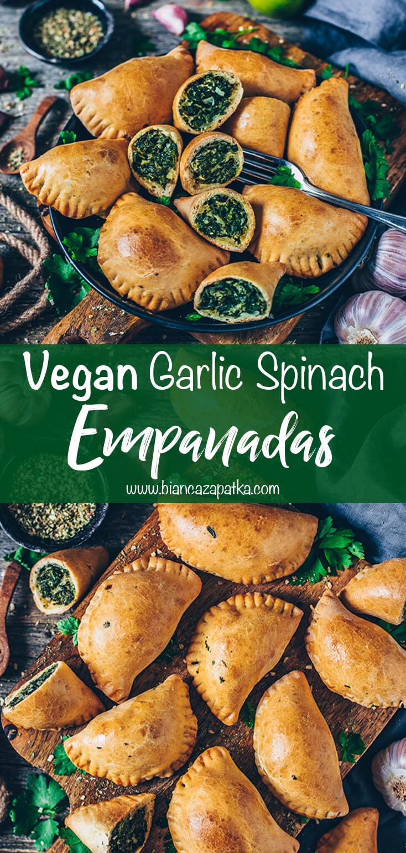 Garlic Spinach Empanadas
