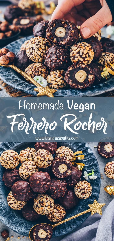 Vegan Ferrero Rocher Pralines (Chocolate Hazelnut Truffles)