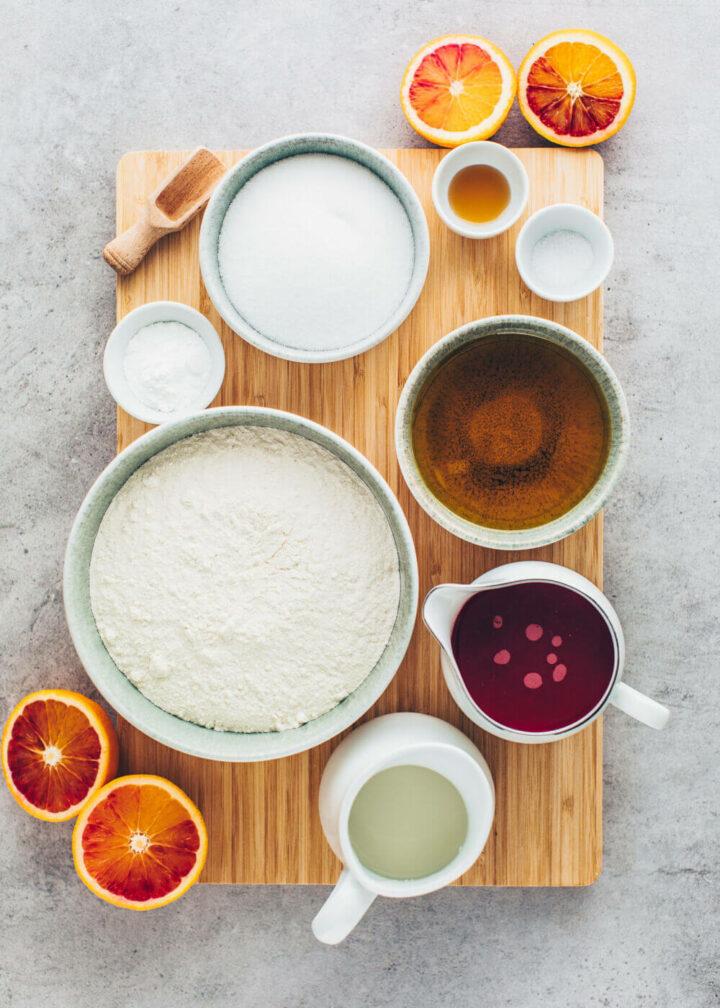 Blutorangen Kuchen Zutaten (Veganer Gugelhupf)
