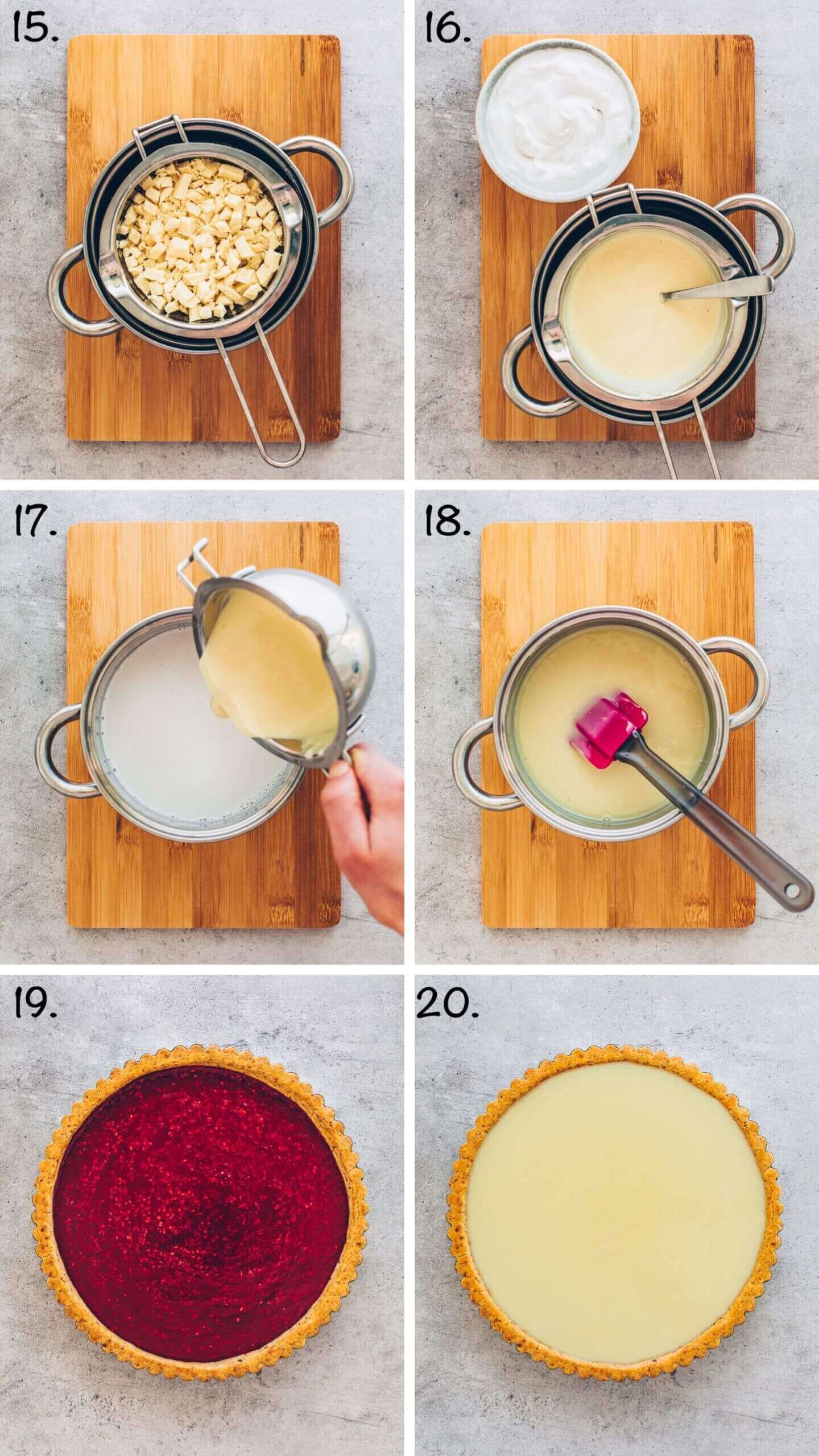 How to make White Chocolate Raspberry Tart step-by-step recipe