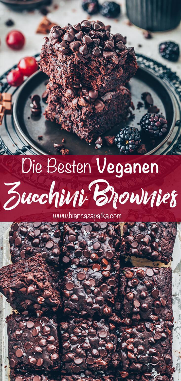 Zucchini-Brownies (Gesunder einfacher Schoko-Kuchen)