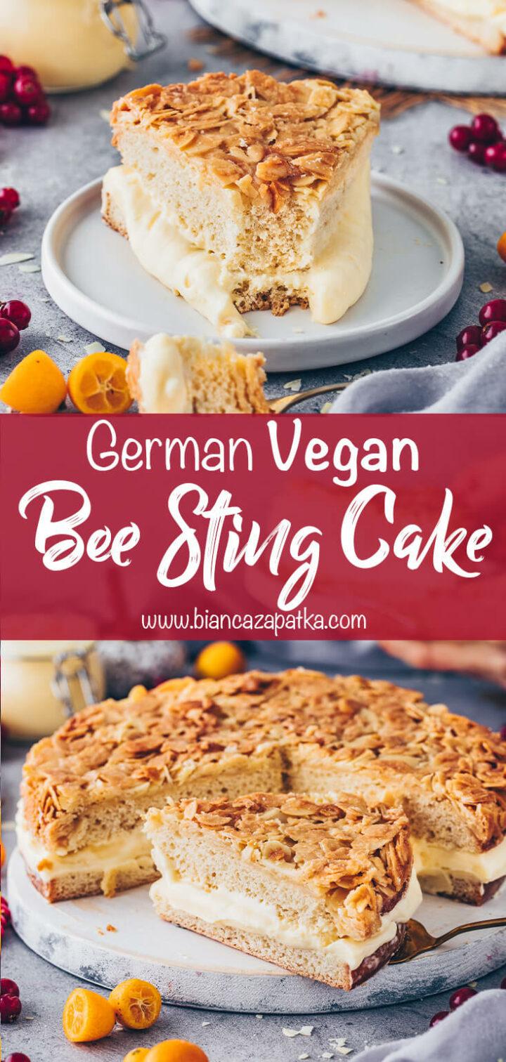 Bee Sting Cake (German Bienenstich Kuchen)