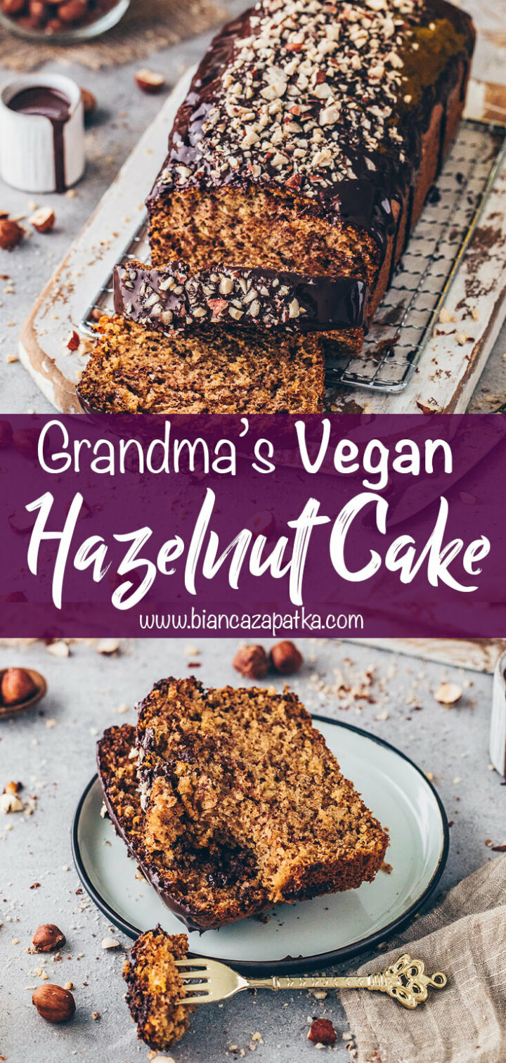 Chocolate Hazelnut Cake (Vegan Nut Bread)
