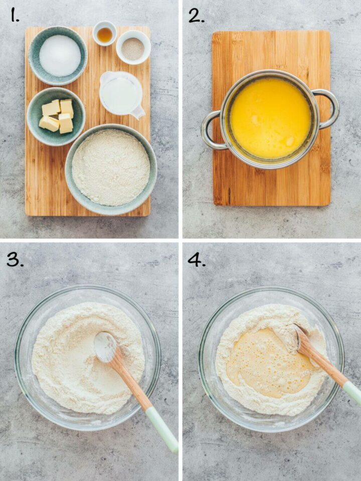 How to make yeast dough for bee sting cake (step-by-step instruction)