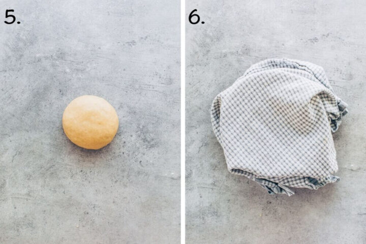 How to make yeast dough for Bienenstich cake (step-by-step instruction)