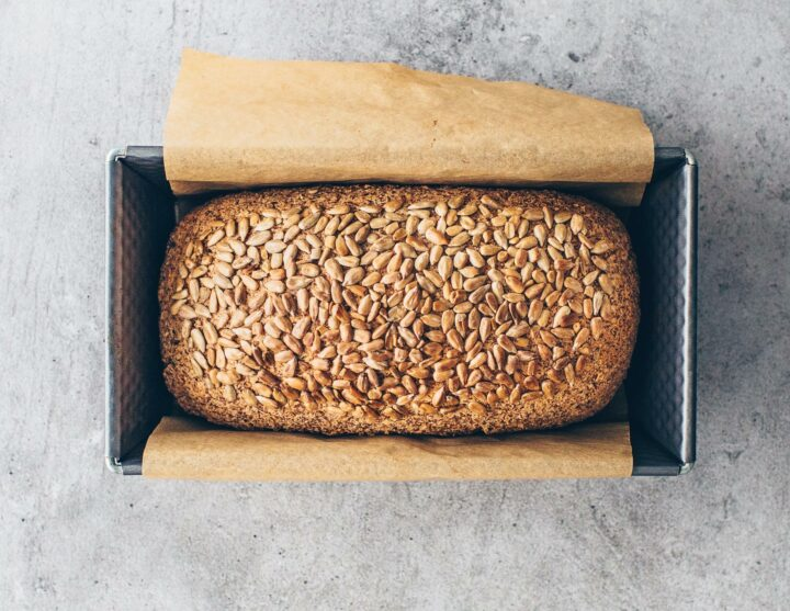 Keto Bread with almond flour and sunflower seeds
