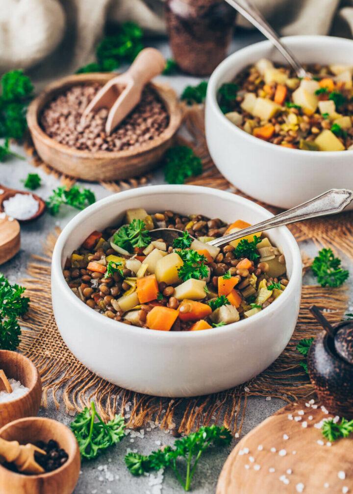 Vegan Lentil Soup (healthy, easy, gluten-free)