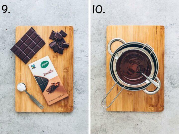 Schokoladen-Glasur selber machen