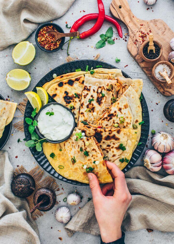 Turkish Gozleme (Vegan Pan Bread)