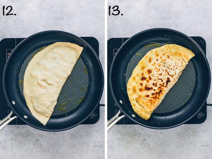Turkish crispy skillet pan bread