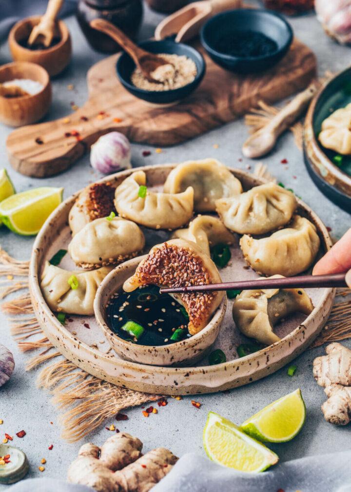 Vegan Gyoza Potstickers Dumplings