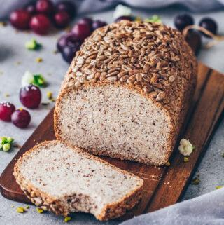Vegan Keto Bread Loaf