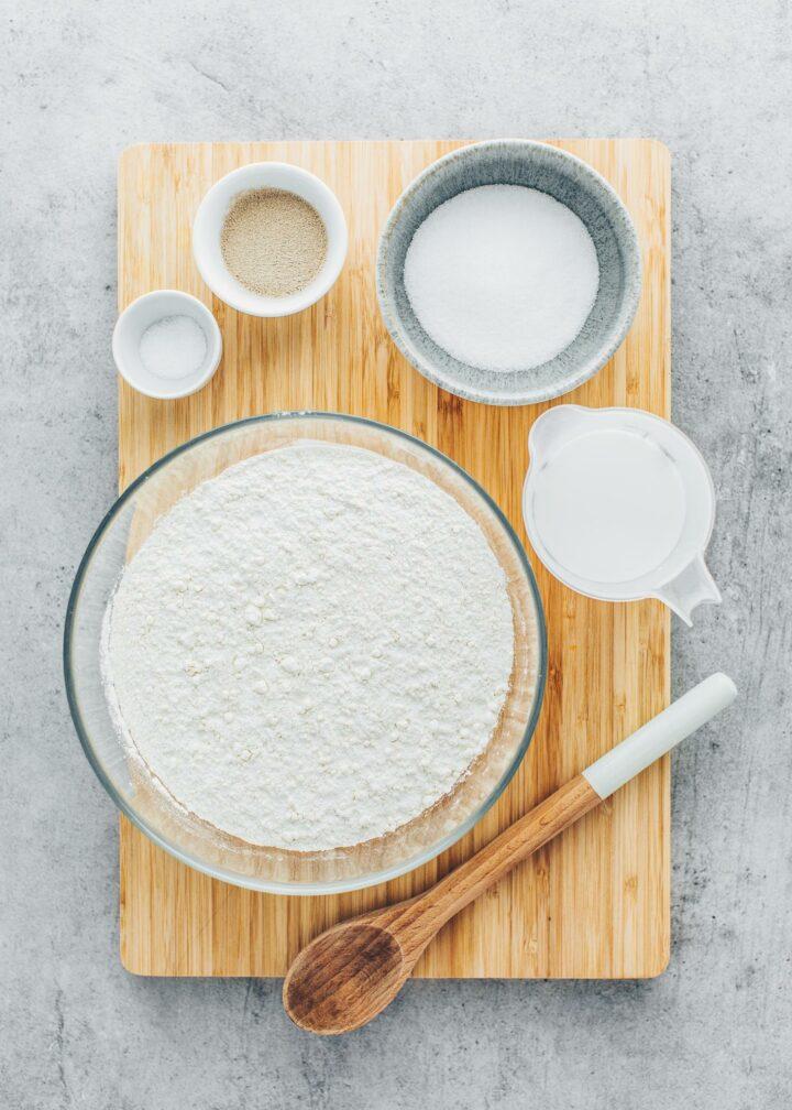 Ingredients for Croissant Dough