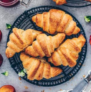 Homemade Vegan Croissants