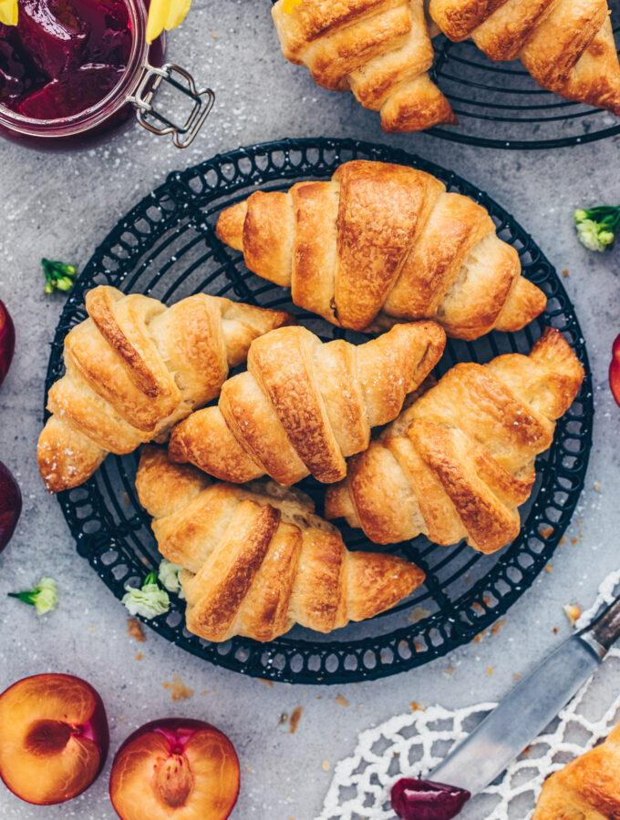 Homemade Vegan Croissants
