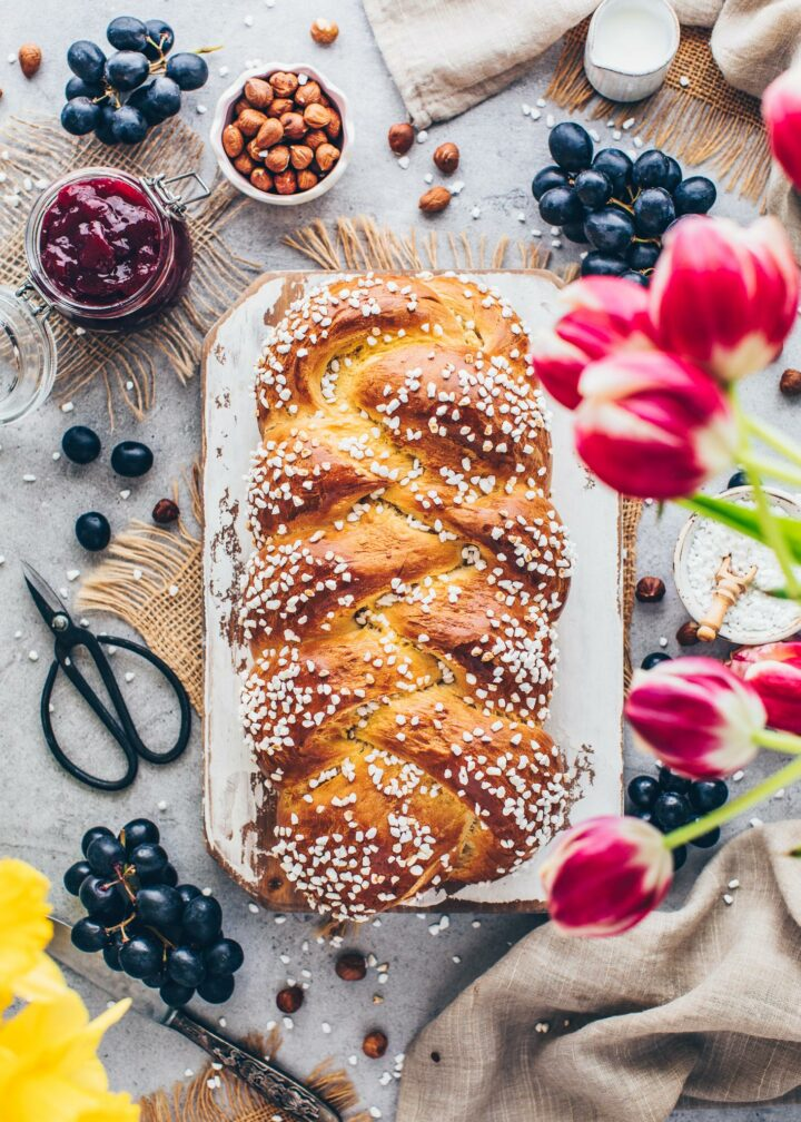Braided Bread Challah (food photography, food styling)
